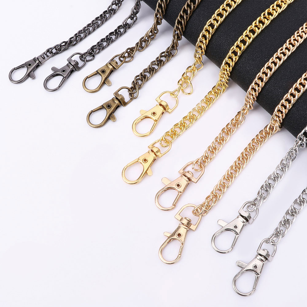 1Pc Metal Chain For Shoulder Strap Bags Woven Chain Handbag Buckle Purse Handle DIY Belt Accessories Replacement Chain Woman
