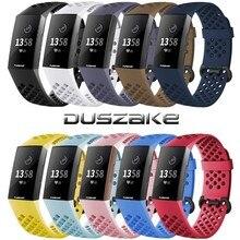 Duszake Accessori Per Fitbit Carica 3/Carica 3SE Banda di Silicone Wristband Impermeabile Banda di Ricambio Per Fitbit Carica 3 Cinghia