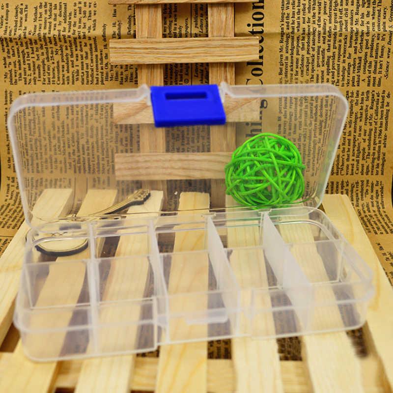 調整可能な 24 コンパートメント透明プラスチック収納ボックスジュエリーケース小オブジェクトカハ · デ · almacenaje V4330