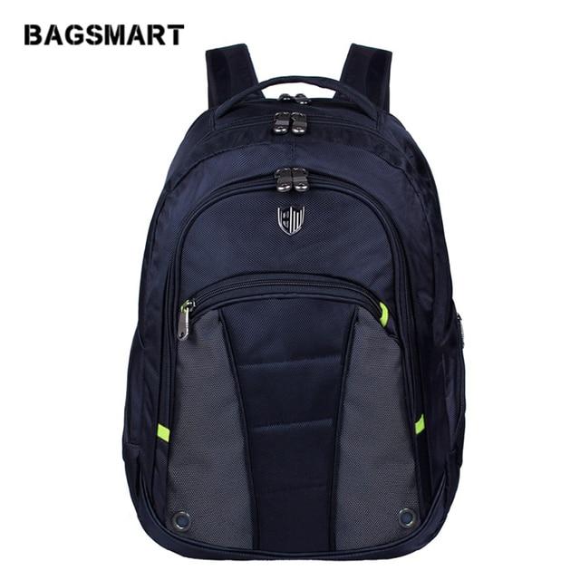BAGSMART Brand Men Backpack 15.6'' Computer Backpacks Men's Laptop Bag With Earphone Hool School Backpack For Teenage Boys