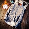 Homens Camisa 2016 Camisa Dos Homens Da Marca Sólida Business Casual Camisa Dos Homens Vestido de Manga Comprida Turn-down Collar Carta Homens roupas 5XL
