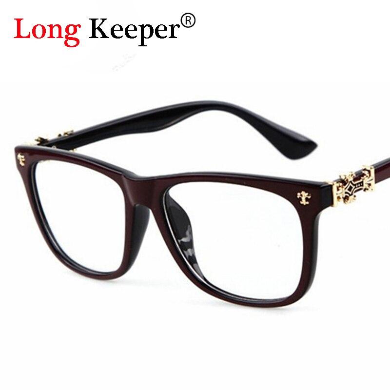 Moda vintage cuadrado óptico Gafas marco mujeres hombres claro lente ...