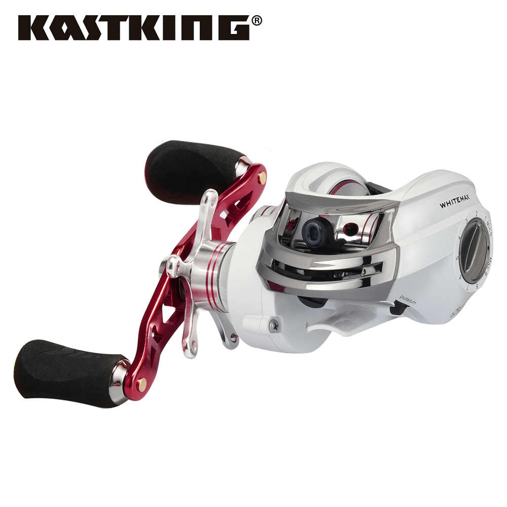 KastKing Whitemax 8KG/17.6LB Dual Brake System Fishing Reel 12 Ball Bearings 5.3:1 Perfect Low Gear Ratio Baitcasting Reel