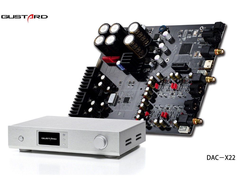 Tragbares Audio & Video Diskret Gustard Dac-x22 Es9038pro Xmos Ultimative Hifi Dac Usb 384 Khz Dsd512 Schwarz