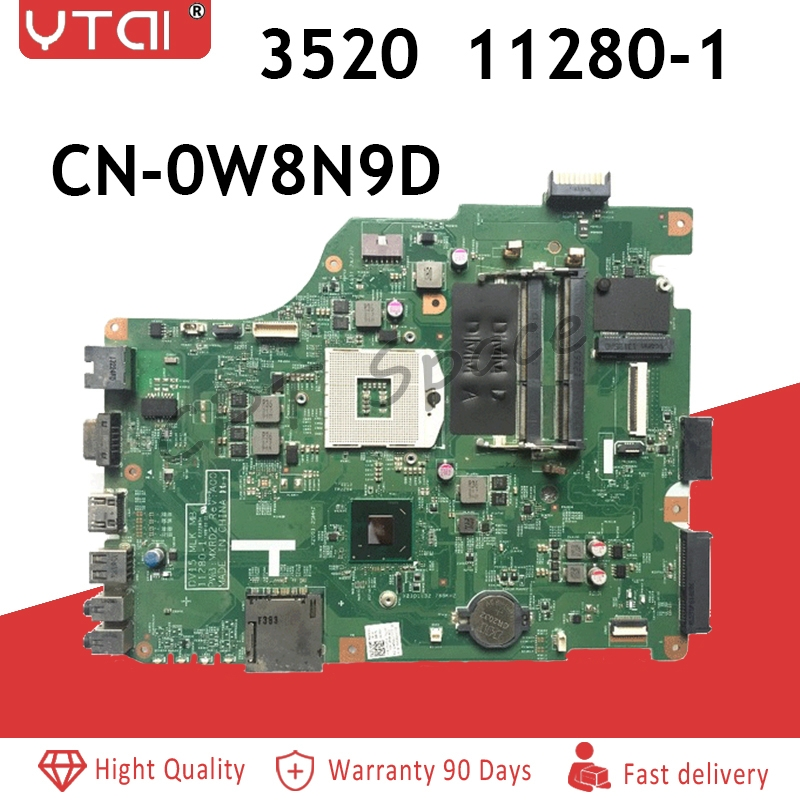11280 1 FOR DELL INSPIRON 3520 motherboard 3520 laptop motherboard tested 11280 1 CN 0W8N9D DV15