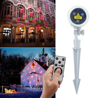 Professional Laser Projector Light Christmas Waterproof Colorful Stage Lamp RF Remote Halloween Thanksgiving Decor US EU