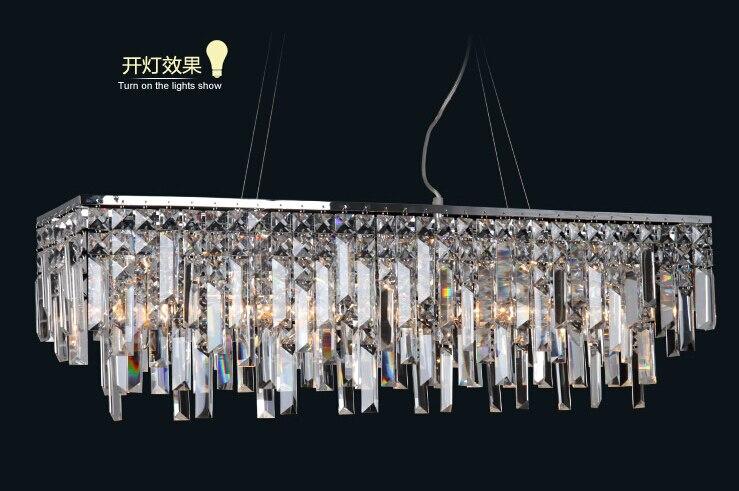 Nieuwe moderne kroonluchter kristal lamp lustres opknoping licht