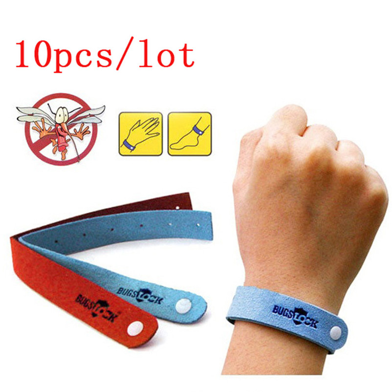 Wrist Bands 10Pcs Bracelet Anti Mosquito Mozzie Insect Bugs Repellent Repeller Wrist Bands Camping Equipment Outdoor Tools #3A@y(China)