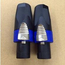 5 шт./лот; ; тип NL4FX Speakon 4 полюс штекер коннекторы для аудио колонок