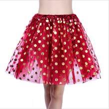 83cfa68ac4 Women Girls Fancy Tutu Skirt Tulle Skirts Polka Gold Dot Cute Gauzy Skirt  Adult Tutu(