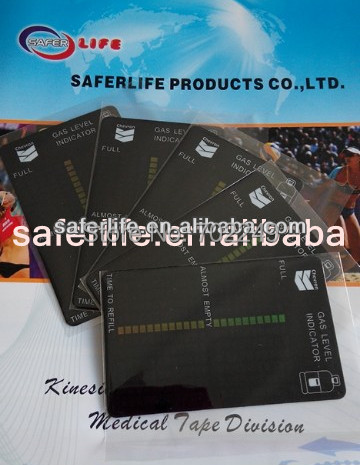 wholesale home products gift promotion of Magnetic color change Gas Level Indicator gas tank test card