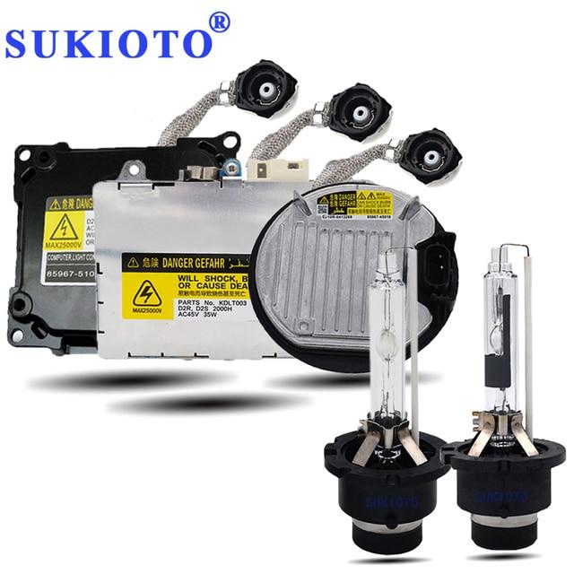 SUKIOTO оригинальный 35 Вт/55 Вт Ксеон D4S D2S ксеноновая лампа 3000 K 4300 K 5000 K 6000 K 8000 K d2r d4r d2s d4s балласты комплект ксеноновых фар