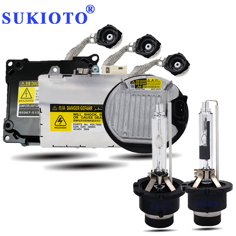 SUKIOTO Original 35W 55W xenon D4S D2S xenon Bulb lamp 3000K 4300K 5000K 6000K 8000K d2r d4r d2s d4s ballasts hid Headlight kit car light accessories amp d2s d2c d2r hid xenon cable adaptor socket for d2 d4 d4s d4r xenon hid headlight relay wiring harness