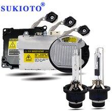 SUKIOTO Original 35W 55W xenon D4S D2S xenon Bulb lamp 3000K 4300K 5000K 6000K 8000K d2r d4r d2s d4s ballasts hid Headlight kit richino h1 55w 3158lm 3000k car hid xenon lamps w ballasts kit golden 9 16v pair