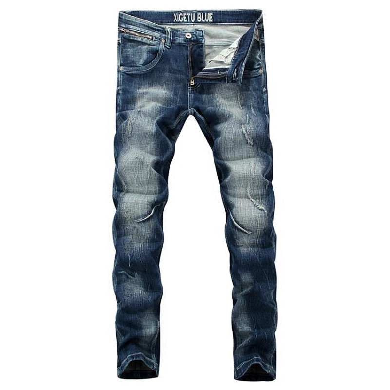 Italian Designer Men Jeans High Quality Slim Fit Blue Color Denim Stripe Jeans Mens Pants White Wash Skinny Motor Biker Jeans  цена