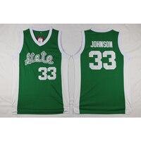 رجل إرفين ماجيك جونسون كلية مخيط اسم ورقم الثانوية لكرة السلة الفانيلة
