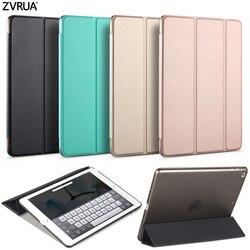Funda para nuevo iPad 9,7 pulgadas 2017 2018, ZVRUA YiPPee Color PU Smart Cover Funda magnética wake up sleep modelo A1822 A1823 A1893 A1954