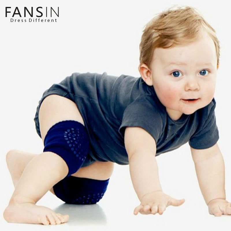 Fansin Brand 1 Baby Knee Pad Pair Kids Safety Crawling Elbow Cushion Infant Children Leg Warmer Protector Baby Toddlers Kneecap