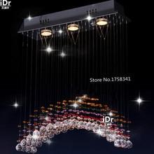 Современная краткое кристалл стальной проволоки линия подвесной светильник лестницы лампы Освещения Гостиницы Высокого класса СВЕТОДИОДНЫЕ энергосберегающие лампы