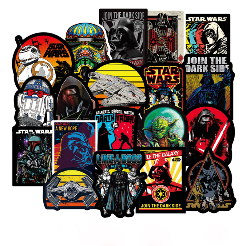 100 Pcs Star Wars Stickers For Car Laptop Skateboard Bicycle Luggage Pvc Waterproof Decal Sticker