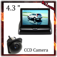 цена на Rear View Camera Parking 2ch Video 4.3  Foldable Tft Lcd Color Camera With 170 Wide Angle HD CCD Night Vision Car Camera