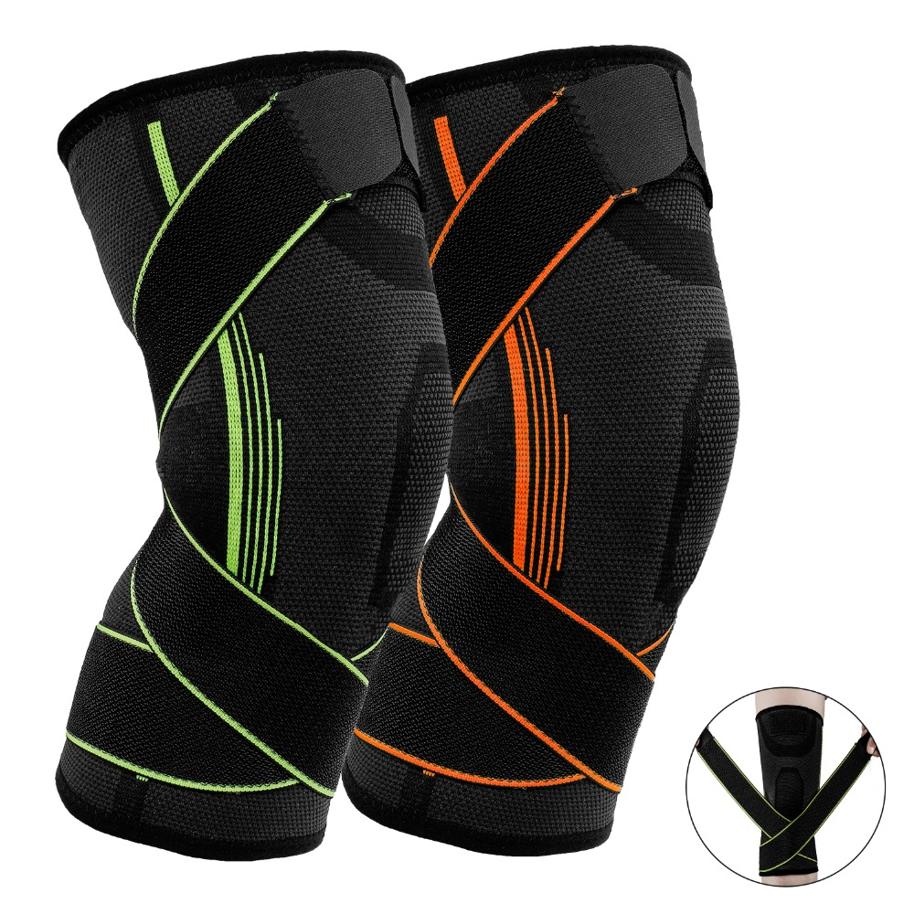 Nieoqar 1 Pcs Fitness Running Knee Support Protect Gym Sport Braces Kneepad Elastic Nylon Padded Compression Knee Pad Sleeve 1pcs fitness running cycling knee support braces elastic nylon sport compression volleyball basketball knee pad sleeve for men