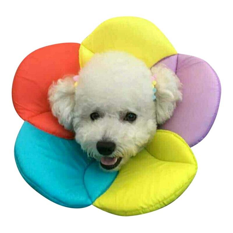 Новый Товары для собак Pet защитный щит Elizabeth Губка Цветок Форма мягкая ткань цветок домашних животных 6 цветов анти-укус Товары для домашние ... ...