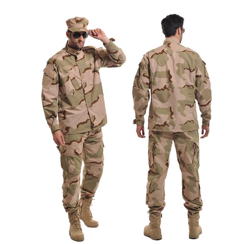 Vêtements de chasse pour hommes militaire tactique BDU Combat uniforme armée champ de bataille équipement formation vêtements Camouflage Ghillie costume