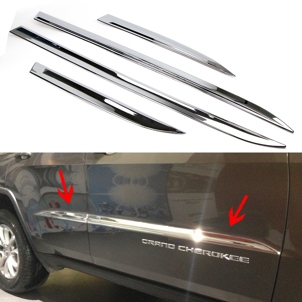 Door Body Side Line Cover for Jeep Grand Cherokee 2014 2015 2016 2017 2018 Chrome Molding