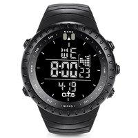 O T S Men S Outdoor Waterproof LED Digital Sports Watches Black