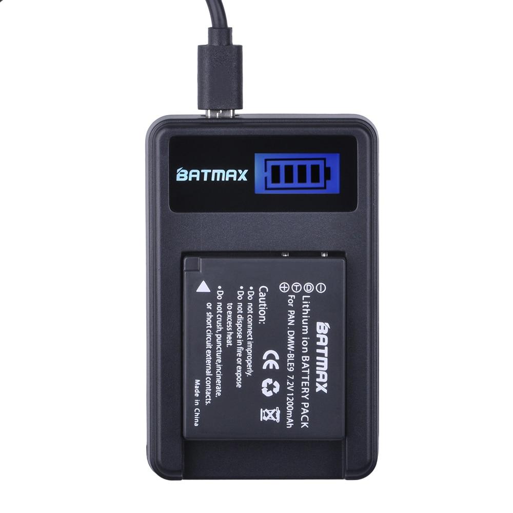 DMW-BLG10 BLG10 BP-DC15 BPDC15 Batteria e Caricabatterie LCD per Panasonic Lumix GF6, GX7, GX80, GX85, GX7 Mark II, LX100, D-Lux (Tipo 109)