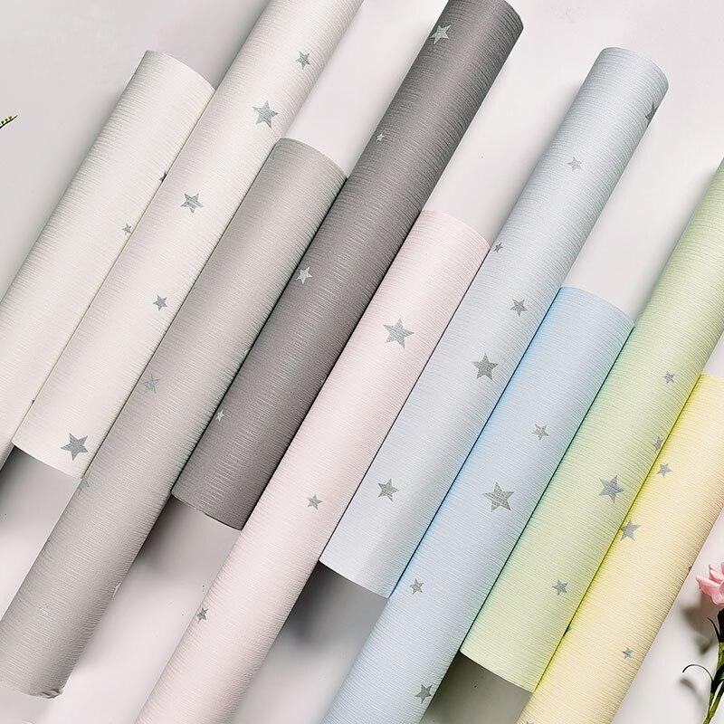 Papier peint auto-adhésif enfants chambre chambre 3D étoiles Photo Mural salon PVC imperméable vinyle papiers muraux décor à la maison