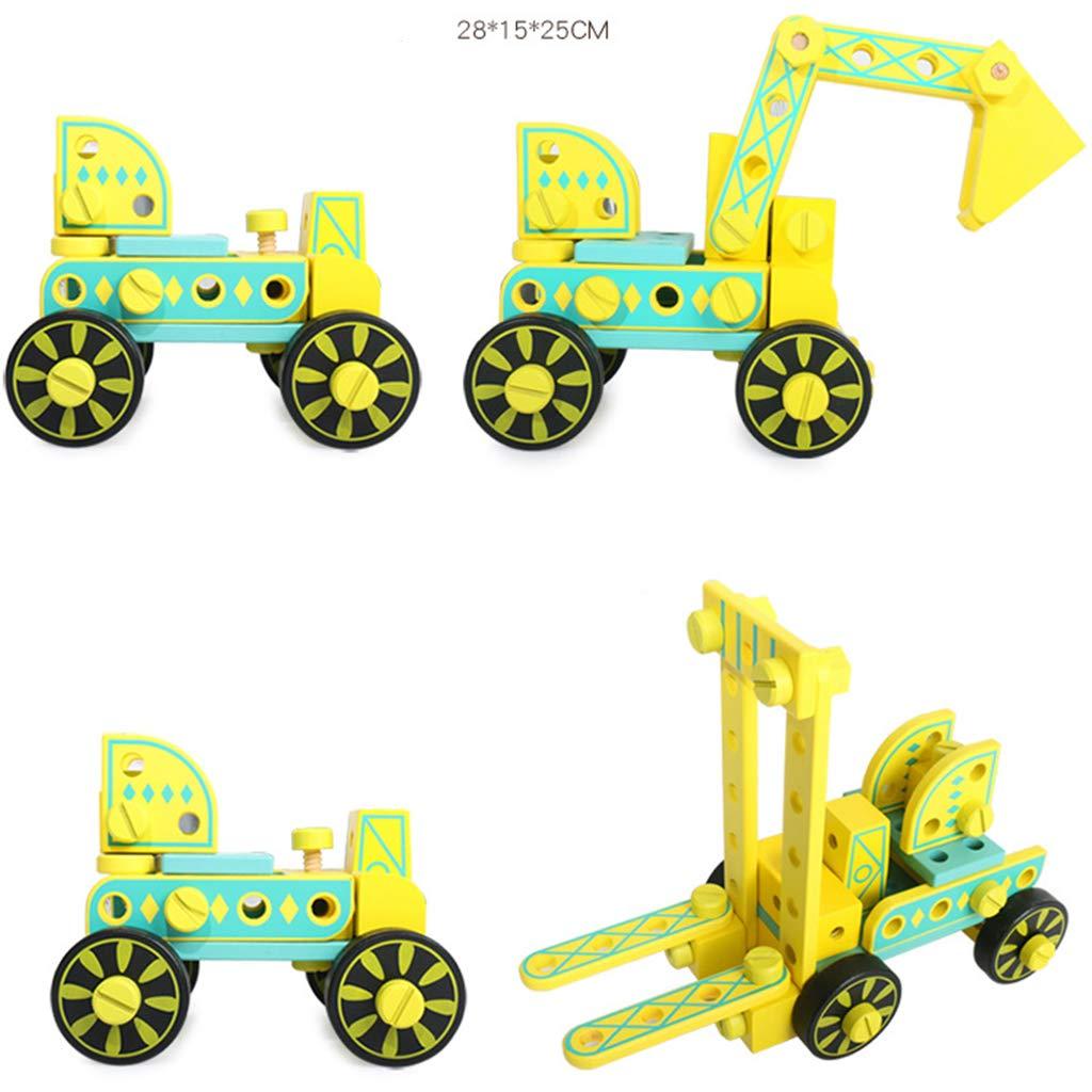 Tige en bois ingénierie camion blocs de construction Science technologie apprentissage précoce jouets éducatifs cadeau pour enfants en bas âge enfants