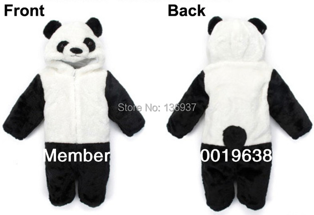 1bf2cdb7b Panda Animal Baby Infant Toddler Grow Onesie suit Jumpsuit Coverall ...