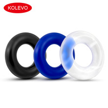 3 PCS Soft Rubber Thick Silicone Penis Ring Penis Sleeve Extender for Men Prolong Erection Reusable Condoms Adult Sex Toys(China)