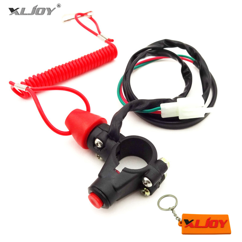 Tether Safety Engine Stop Kill Switch Push Button For ATV Quad Pocket Mini Dirt