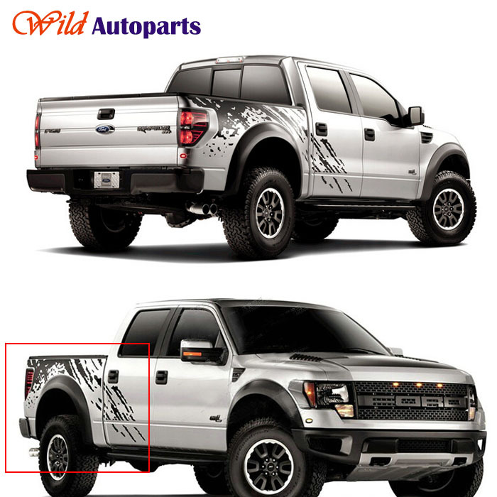 Ford Service Decals : Black auto body tail side trunk graphics vinyl decals