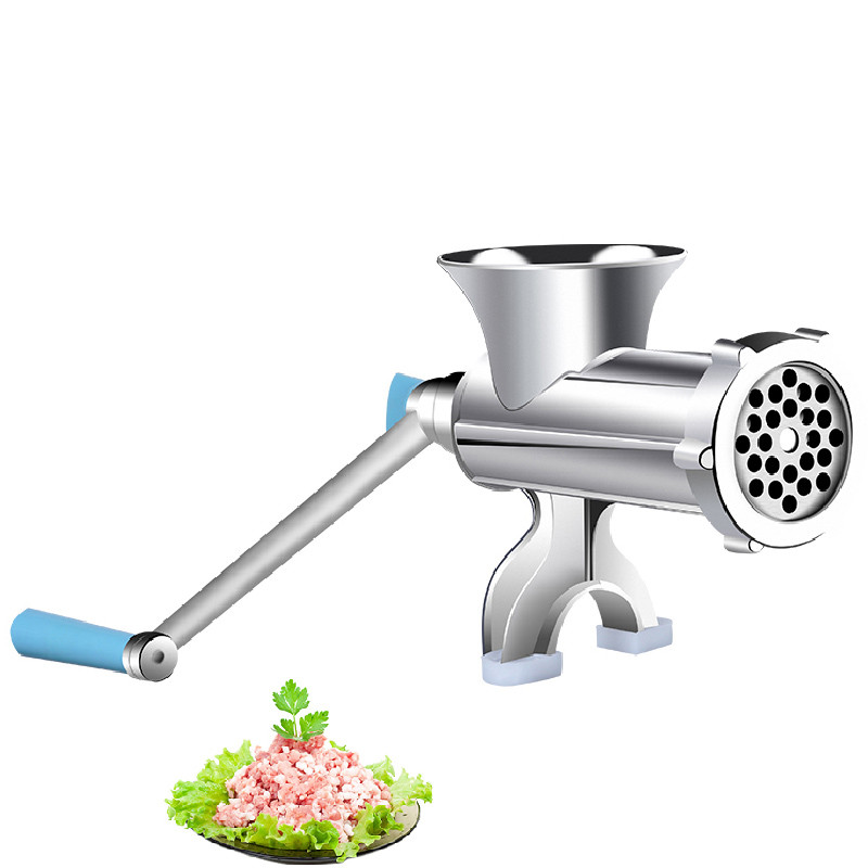 Beijamei manual home meat mincer hand sausage maker multifunctional meat grinder grinding machine for sale hand cranked meat mincer sausage manual meat grinder multifunctional home for mincing meat vegetable spice blades kitchen tools