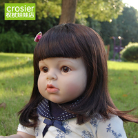 Топ класса ручной работы на заказ 70 см 28 Кукла Reborn Детские большой ограниченным силиконовые Реалистичного дети партнеров рождения art