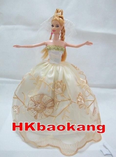 Princess Dress Clothes for Barbie Dolls w Veil Gloves