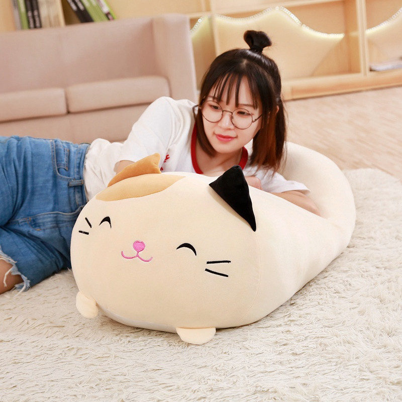 30-90cm Soft Animal Cartoon Pillow Cushion Cute Fat Dog Cat Totoro Penguin Pig Frog Plush Toy Stuffed Lovely Kids Birthyday Gift