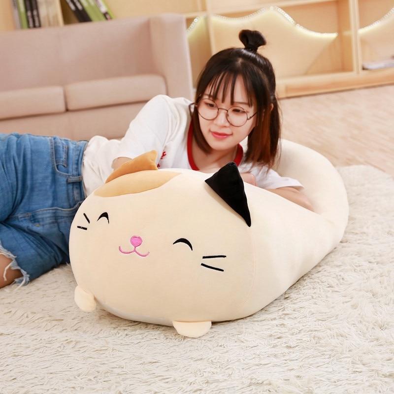 30-90cm Soft Animal Cartoon Pillow Cushion Cute Fat Dog Cat Totoro Penguin Pig Frog Plush Toy Stuffed Lovely kids Birthyday Gift(China)