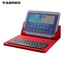 Alta calidad 9 – 10 pulgadas Tablet Universal de cuero de la PU caso de la cubierta holder + extraíble silicio teclado Bluetooth inalámbrico S900
