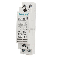 Hc1-16a 35 mm DIN rel Mount 2 tiang daya AC kontaktor, 16A yaitu 220 / 240 V Coil катушка индуктивности jantzen cross coil 12 awg 2 mm 6 2 mh 0 53 ohm