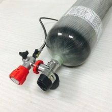 CE 9L 300bar 4500psi certified gas tank driving carbon fiber PCP airsoft  SCBA cylinder with M18*1.5  valve & fill station-K