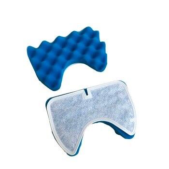 Paquete de 2 filtros de esponja azul y filtro de algodón para Samsung DJ97-00492A SC6520/30/40/50/60/70/80/90 SC68 piezas de limpiador al vacío