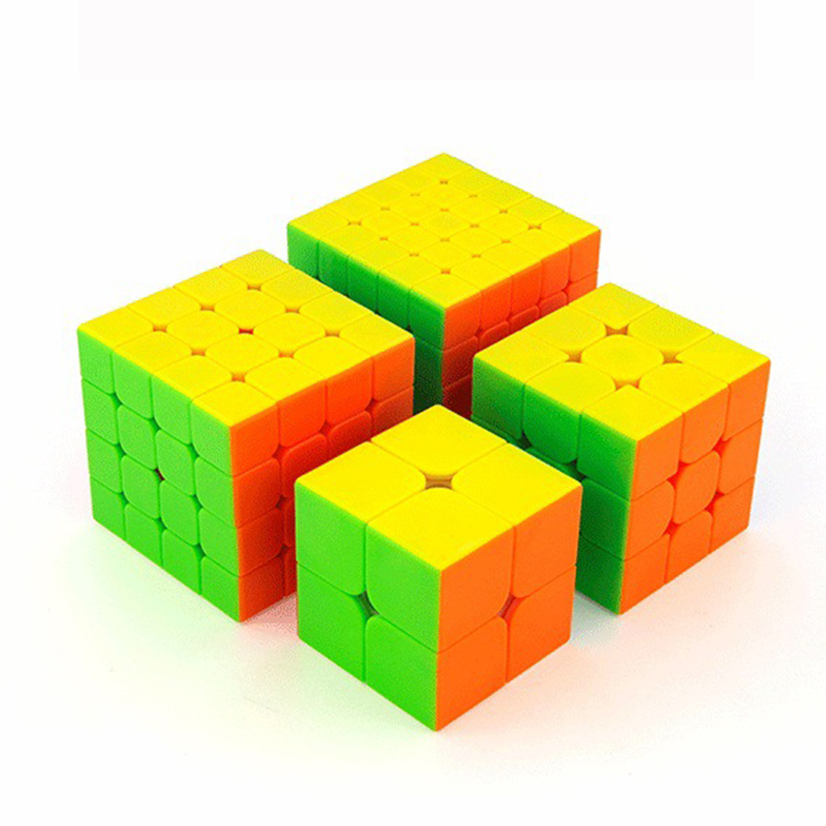 4PCS Set Best Birthday Gift 2x2x2 3x3x3 4x4x4 5x5x5 Stickerless Magic Cube set Puzzle Boys 2 2 2 3 3 3 4 4 4 5 5 5 Moyu Cubes in Magic Cubes from Toys Hobbies