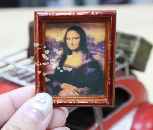 MINI doll house Siwan scene accessories with the Mona Lisa painting