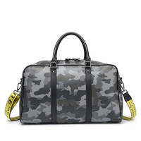 Travel Bag Large Capacity Hand Luggage Travel Duffle Bags PU Leather Camouflage Weekend Bags Multifunctional Travel Bags