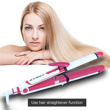Buy 3 in 1 110-240VCeramic TourmalineCorn plate Straightener Irons Flat Iron Waves Iron Curler Plate Curling IronhairStylinyTool 35